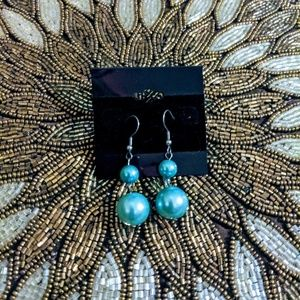 3 for $10 jewelry double blue Pearl dangle